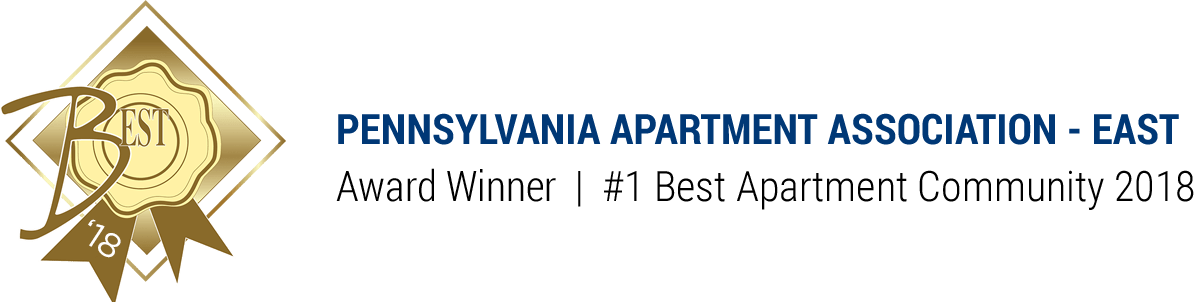 Pennsylvania Apartment Association - East Award Winner #1 Best Apartment Community 2018