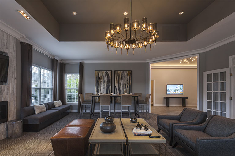 Clubhouse interior at Chesnut Pointe apartment community in Royersford, PA
